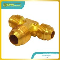 ac oil filter - Brass TEE Male SAE line to Male SAE line to Male SAE branch for bus AC