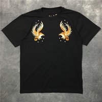 big golden eagle - HONO Li The big embroidery golden eagle logo men and women short sleeve T shirt