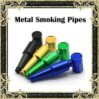 aluminium length - Bear Bottle Style Smoking Pipes Metal Filter Pipes Aluminium Alloy Material mm Length Colors Smoking Pipe