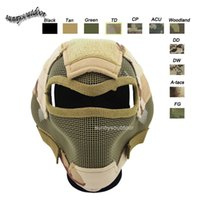 Wholesale Outdoor Airsoft Shooting Face Protection Gear V7 Metal Steel Wire Mesh Full Face Tactical Airsoft Mask