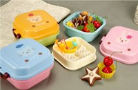 bento box cute - New kids Japanese style Cartoon Cute Plastic Microwave Oven sandwich Bento Lunch Box Lunchbox Meal Food Container Snack box For Children