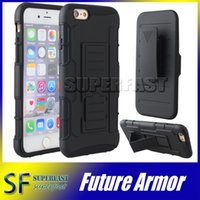 bag combos - For iPhone Future Armor Impact Hybrid Case for Galaxy S7 Case with Belt Clip Holster Kickstand Combo Case LG G Stylo Galaxy G530 Opp Bag