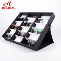 Wholesale 18 Gird Eyewear Sunglasses Watches Display Storage Box Case Holder Tray Women Men Jewelry Container