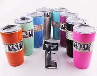 Wholesale Yeti Rambler Tumbler oz oz oz YETI Cooler Cups Vacuum Insulated Beer Mugs Stainless Steel Large Capacity Mug Tumblers Free Ship