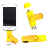 Wholesale Swivel 256gb - 128GB 256GB OTG (On The Go) Micro USB Swivel USB 2.0 Flash Drives Memory Stick for Android Smartphones Tablets PenDrives U Disk Thumbdrives