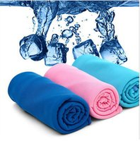 Wholesale 2016 Hot cold ice cool towel Exercise Sweat Summer Ice Towel cm Sports Ice Cool Towel PVA Hypothermia Cooling Towel DHL