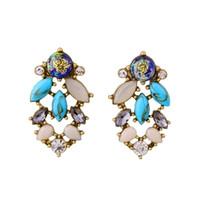 acrylic scrap - Ms retro alloy hollow out scrap gold flower earrings drop earring women earring Amercia Style Jewelry for Party