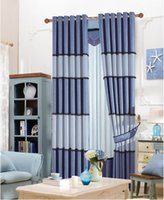 Wholesale Two Sides Design AB Side Mature Stripe Pattern Blackout Bedroom Living Room Curtain Window Drapes Custom Made