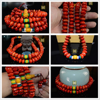 Wholesale Factory direct red Muyu Pu Tizi Pu Tizi beads Man playing red blood Muyu fruit Bodhi rosary and retail