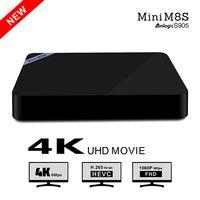 Wholesale Custom Logo Android tv box Beelink Mini M8S Amlogic S905 Quad core support K H GB8GB Bluetooth M G wifi