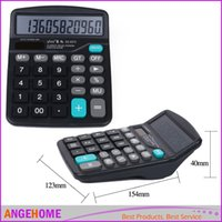 Wholesale Portable Office School Commercial Tool Battery or Solar in1 Powered Digit Electronic Calculator with Big Button Retail box packaging