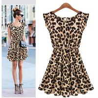 Wholesale 2016 New Hot Dresses For Womens Sexy Leopard Printing Women s Dresses Fashion Sexy Club Party Dress Skirts