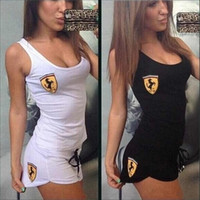 Wholesale Europe sexy new Slim casual sportswear suit vest shorts piece fitted skirt
