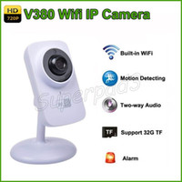 Wholesale V380 HD P Mini IP Camera Wifi Wireless P2P Security Surveillance Camera Night Vision Baby Monitor Motion Detection Alarm