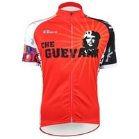 Wholesale New Red Pioneers Che Guevara Alien SportsWear Mens Cycling Jersey Cycling Clothing Bike Shirt jerseys tops