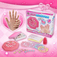 Wholesale Happy children Manicure Jill set makeup toy jewelry nail sticker manual DIY Girl Birthday Gift