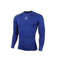Wholesale Kelme K15Z705 Men Quick drying Unitard Long Sleeve Football Sport T shirt Straitjacket Blue