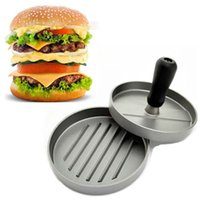 Wholesale Hot Hamburger Burger Maker Patty Press Burger Machine Kitchen Tool Meat Poultry Tools Manual Pressure Meat Pie Maker Presses