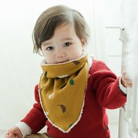 bebe dress l - Baby Thickened Velvet Bibs Winter Cotton Scarf Newborn Infant Bandana Drool Bib Toddler Boys Girls Bebe Dress Accessory AS011