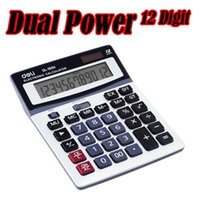 Wholesale Lackadaisical Solar Calculator Computer Metal Panel Calculator Wear Resistant Digit Deli