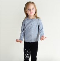 Wholesale Campure Baby Boys Girls Clothes Fashion More Color Knitting Coat Brand Cotton Children Clothing Kids Spring Autumn Sweater