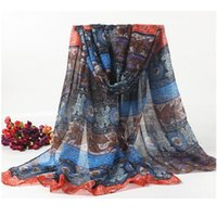 bali specials - 2017 Special Print Adult Thin Long Design Cotton Scarf Women Autumn Winter Bali Yarn Beach Towel Retro national wind warm scarves cm