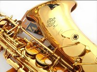 Wholesale Best Selling French Selmer E Flat Alto Saxophone Reference Electrophoresis Gold Saxe Top Musical Instrument baritone