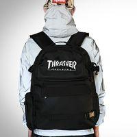 Acheter Sacs de jour noir-Loisirs scooter sac à dos sac Notbook sac à dos noir casual New Thrasher conception de planche à roulettes pack jour sport de plein air