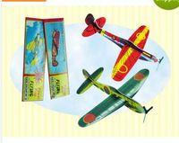 Nueva Segunda Guerra Mundial Foam Glider Assorted Power Prop Flying Gliders Aviones Avión Niños Niños DIY Puzzles Juguetes