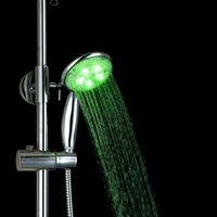 best shower spray - e pak BEST Color Changing LED Bath Shower Handheld Spray Head ABS Chrome Hand Shower Cheap taps faucet