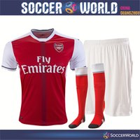 arsenal full kit - Thai Quality New Arsenal Soccer Jerseys Arsenal Home full kits OZIL WILSHERE RAMSEY ALEXIS rugby jerseys football shirt