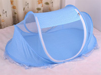 Wholesale 2016 Hot Sale Cute Baby Crib Portable Type Comfortable Babies Pad with Sealed Mosquito Net Lowest Price Baby Mosquito Net