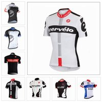 Wholesale Cervelo Cycling Jerseys Short Sleeve Cycling Tops Men Summer Ropa Ciclismo Bicycle Clothing Size XS XL Colors For Sale