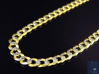 10k gold chain - Real K Yellow Gold Solid Diamond Cut Cuban Link Chain Necklace quot MM