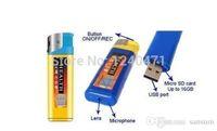 Wholesale 720 Mini Lighter Hidden Camera High Definition Hidden Camera Lighter Spy Cam Portable Video Photo Recording Tool Blue Yellow
