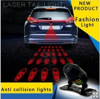Wholesale 2016 Cute Car Tail Laser Fog Light TIMO Rear Anti Collision Safety Signal Warning Lamp