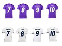 DHL libre Real Madrid de calidad superior Jersey del fútbol de Tailandia James pacas ronaldo Modric survetement camiseta de fútbol siut maillot de pie