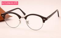 Wholesale top fashion brand designer men women ROUND frames optical brand eyeglasses frame top quality v black glasses frame mm in box case