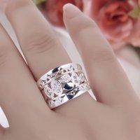 Natural de cristal las mujeres de la nueva manera de plata sólido plateado alrededor de la manera del anillo Tamaño de la joyería al por mayor de 7 8 envío de la gota