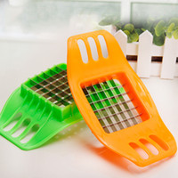 Wholesale New Originality useful Tools Kitchen Supplies Accessories Vegetable Potato Slicer Cutter Fries DIY Tool Kitchen Accessories Plastic handle C