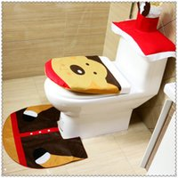 Wholesale Best sale Christmas Home Decoration for Washroom Toilet Seat Cushion A Set High Quality