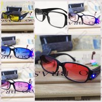 Wholesale 1000PCS LJJM125 Elders Reading Unisexy Glasses Presbyopic Night Glasses Magnet Therapy Eyewear Ultraviolet proof Flashlight Glasses