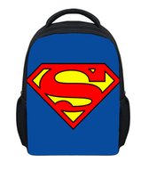 batman book bag - 12 Small Children School Bags Super Hero Superman Batman Book Bags For Boys Fashion Cartoon Kindergarten Schoolbag Mochila