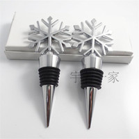 bars snow - Metal Snow Snowflake Bottle Stopper Kitchen Tool Wine Stopper Bar Tools Wedding Facors Gifts