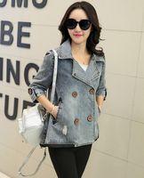 Wholesale New Arrival Denim Jacket Women Fashion Spring Basic Jacket Women Plus Size Sleeve Jeans Jacket Coat