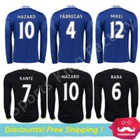 anti long - Top quality HAZARD Long sleeve Jerseys blue soccer jersey FABREGAS KENTE OSCAR football shirts AAA