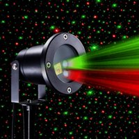 Wholesale High Bright Laser light waterproof outdoor lawn Starry Christmas red and green dynamic remote control insert the courtyard garden landscape