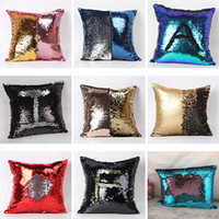 Wholesale Sequin Pillow Case Cover For Double Side Fashion Square Bead Soft Car Cushion Home Decor Case Cover Xmas Gifts Colors cm HH P08