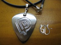 Wholesale stainless steel Handmade guitar pick necklace rock band DEEP PURPLE DP for rock fans