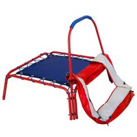 Wholesale 3 x Jumping Trampoline Handle Bar and Safety Pad for Kids Square Red